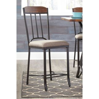 Signature Design by Ashley Zanilly Two-Tone Upholstered Barstool (Set of 2)