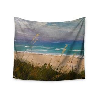 KESS InHouse Carol Schiff 'Florida Beach Scene' Coastal Blue 51x60-inch Tapestry