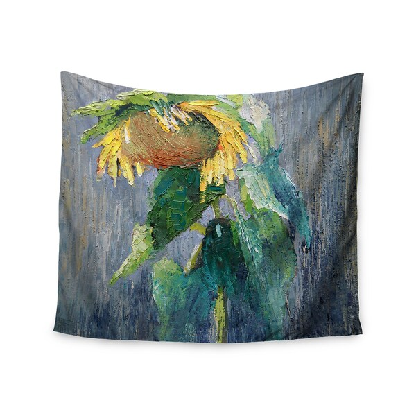 KESS InHouse Carol Schiff 'Lonely Sunflower' Yellow Nature 51x60-inch Tapestry
