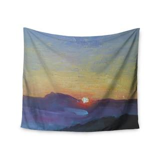 KESS InHouse Carol Schiff 'Mountain Sunset' Orange Nature 51x60-inch Tapestry