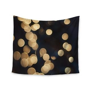 KESS InHouse Cristina Mitchell 'Blurred Lights' Black Gold 51x60-inch Tapestry