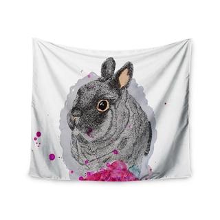 KESS InHouse Cecibd 'BunnyRose' Animals Painting 51x60-inch Tapestry