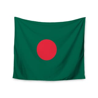 KESS InHouse Bruce Stanfield 'Flag Of Bangladesh' Red Digital 51x60-inch Tapestry