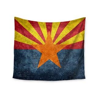 KESS InHouse Bruce Stanfield 'Arizona State Flag Retro Style' Orange Blue 51x60-inch Tapestry