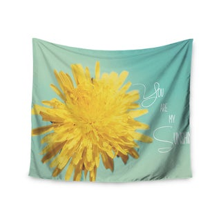 KESS InHouse Beth Engel 'You Are My Sunshine' Teal Flower 51x60-inch Tapestry
