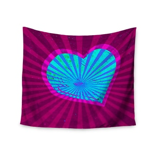 "Kess InHouse Anne LaBrie ""Love Light"" Blue Modern Wall Tapestry 51'' x 60''"