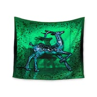 """Kess InHouse Anne LaBrie """"Dance On"""" Green Blue Wall Tapestry 51'' x 60''"""