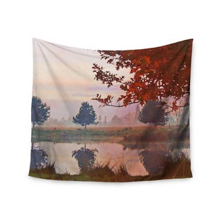 "Kess InHouse Pellerina Design ""Magic Morning"" Red Nature Wall Tapestry 51'' x 60''"