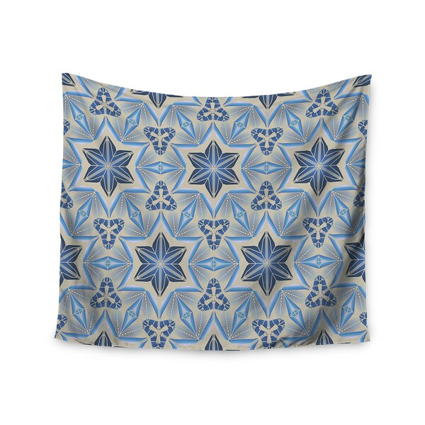 "Kess InHouse Angelo Cerantola ""Astral"" Beige Blue Wall Tapestry 51'' x 60''"