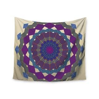 "Kess InHouse Angelo Cerantola ""Composition (Purple)"" Lavender Beige Wall Tapestry 51'' x 60''"