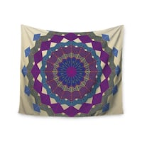 "Kess InHouse Angelo Cerantola ""Composition (Purple)"" Lavender Beige Wall Tapestry 51'' x 60''"