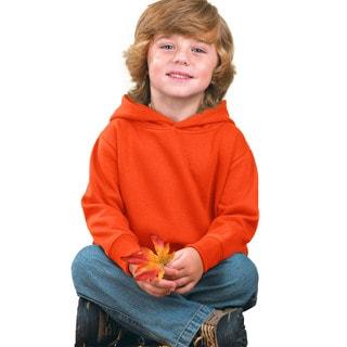 Boy's Orange Fleece Pullover Hooded Sweatshirt