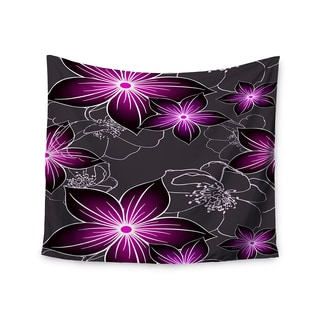 """Kess InHouse Alison Coxon """"Charcoal And Amthyst"""" Gray Purple Wall Tapestry 51'' x 60''"""