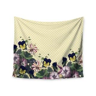 "Kess InHouse Alison Coxon ""Polka Dot"" Purple Yellow Wall Tapestry 51'' x 60''"
