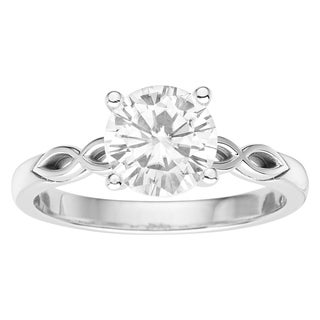 Charles & Colvard 14k White Gold 1.50 TGW Forever Brilliant Moissanite Solitaire Ring