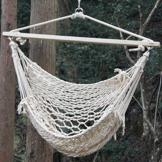 Prime Garden Deluxe Cotton Rope Swing Chair