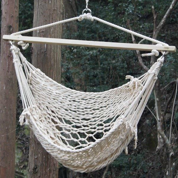 Prime Garden Deluxe Cotton Rope Swing Chair