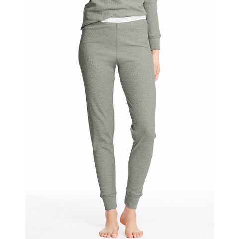 Hanes Women's X-Temp Grey Cotton/Polyester Heather Thermal Panty