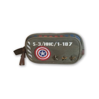 Captain America Vintage Military Canvas Toiletry Bag