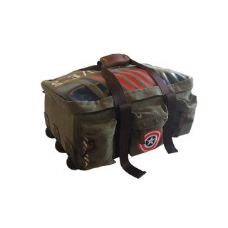 Captain America Military Canvas Vintage-Style Rolling Duffel Bag