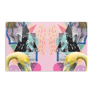 KESS InHouse Vasare Nar 'Flamingo Tropical' Artistic Aluminum Magnet