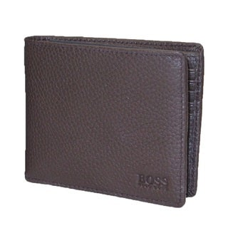 Hugo Boss Titbits Brown Pebbled Leather Bifold Wallet
