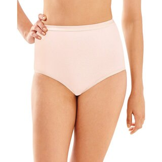 Bali Women's Silken Pink Cotton Full-cut Stretch-fit Brief