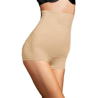 Maidenform Women's Hi-waist Nude Nylon, Spandex Boy Short