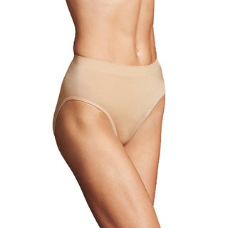 Maidenform Women's Latte Nylon/Spandex Lift High-cut Brief (Set of 2)