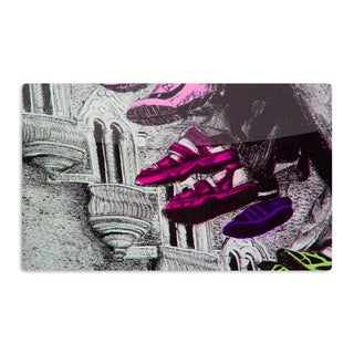 KESS InHouse Theresa Giolzetti 'Shoes in SF' Gray Purple Artistic Aluminum Magnet