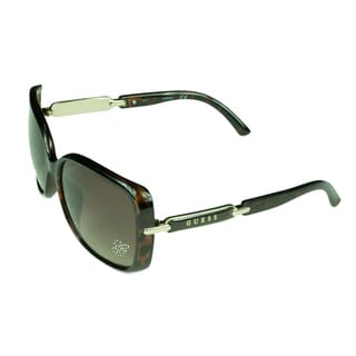 Guess Women's Tortoise Plastic Sunglasses