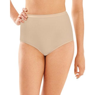 Bali Women's Beige Cotton, Spandex Full-cut Brief