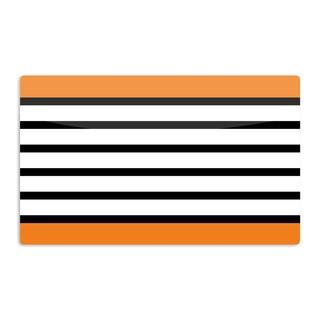 KESS InHouse Trebam 'Sest Redaka Orange' Tangerine Artistic Aluminum Magnet