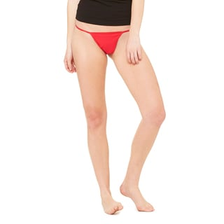 Women's Red Cotton, Spandex Thong