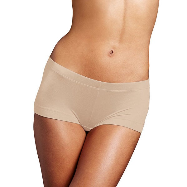 Maidenform Women's Dream Body Beige Cotton/Nylon/Spandex Boy Shorts