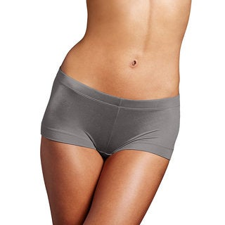 Maidenform Women's Dream Steel Grey Cotton/Nylon/Spandex Boyshort