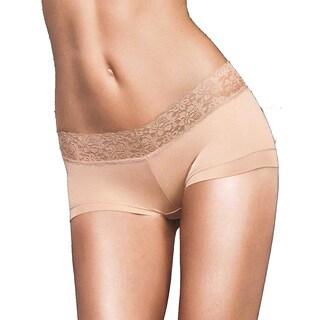 Maidenform Women's Dream Collection Beige Cotton, Nylon, Spandex Boy Short