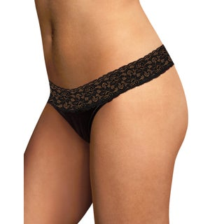 Maidenform Women's Dream Black Cotton, Nylon, Spandex Thong