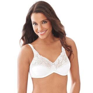 Lilyette Women's White Nylon, Spandex Minimizer Bra|https://ak1.ostkcdn.com/images/products/12148914/P19003448.jpg?impolicy=medium