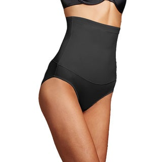 Maidenform Women's Black Nylon/Spandex Firm Control 3X/4X Hi-Waist Brief
