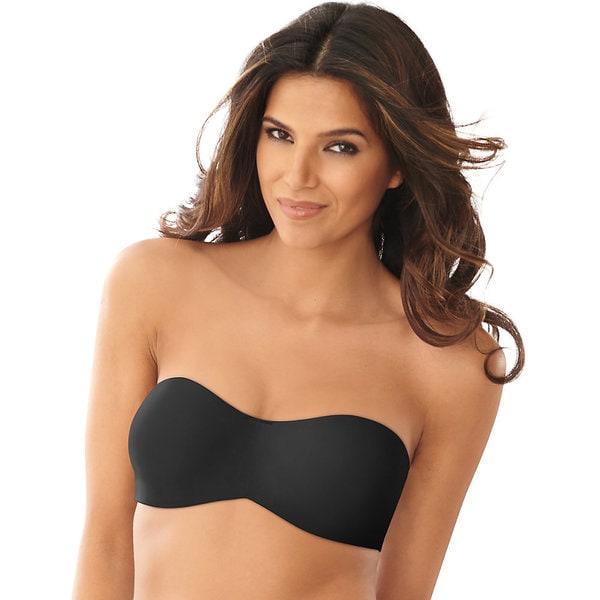 b964b9d7a3 Shop Lilyette Women s Black Nylon Tailored Strapless Minimizer Bra - Free  Shipping On Orders Over  45 - Overstock.com - 12148922