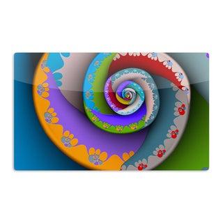 KESS InHouse Michael Sussna 'Flor Essence' Rainbow Spiral Artistic Aluminum Magnet