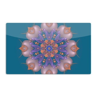 KESS InHouse Michael Sussna 'Whisker Lily' Orange Teal Artistic Aluminum Magnet