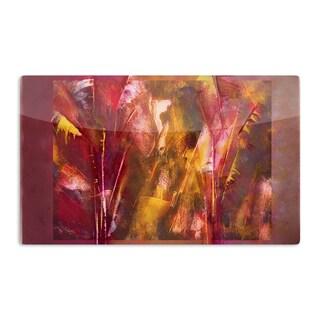 KESS InHouse Malia Shields 'Warmth' Orange Red Artistic Aluminum Magnet