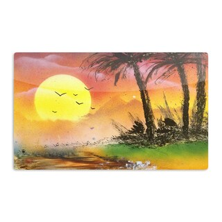 KESS InHouse Infinite Spray Art 'Maui Sunrise' Beach Artistic Aluminum Magnet