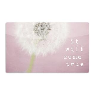 KESS InHouse Susannah Tucker 'It Will Come True' Pink Flower Artistic Aluminum Magnet