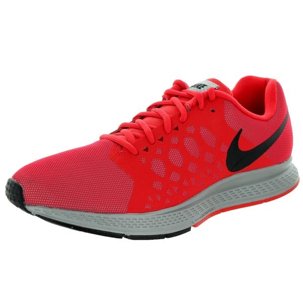 d853852a7ce7 ... Men s Athletic Shoes. Nike Men  x27 s Zoom Pegasus 31 Silver Black Red Flash  Reflect