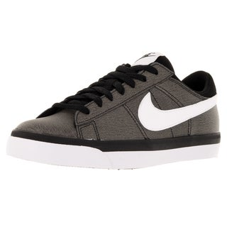 Nike Men's Match Supreme Black/White Leather/Synthetic Casual Shoe