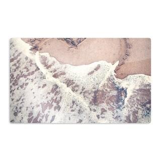KESS InHouse Nastasia Cook 'Heart in the Sand' Beach Artistic Aluminum Magnet