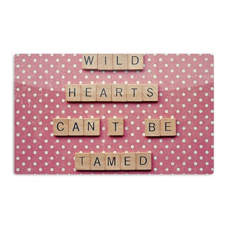 KESS InHouse Nastasia Cook 'Wild Hearts Can't Be Tamed' Pink Dots Artistic Aluminum Magnet